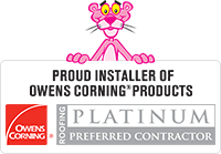 Proud Installer of Owens Corning* Products